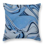 Blue And Gray Throw Pillow