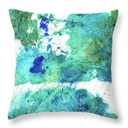 Blue And Green Abstract - Imagine - Sharon Cummings Throw Pillow