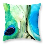 Blue And Green Art - Pools - Sharon Cummings Throw Pillow