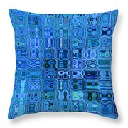 Blue And Green Quilt Throw Pillow