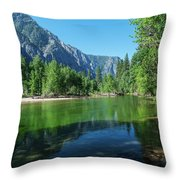 Blue And Green River Throw Pillow