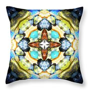 Blue And Green Stones 4 Throw Pillow