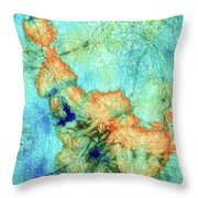Blue And Orange Abstract - Time Dance - Sharon Cummings Throw Pillow