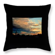 Blue And Orange Sunset Throw Pillow