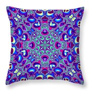 Blue And Pink Wallpaper Fractal 71 Throw Pillow