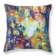 Blue And Red  Abstract 1 Throw Pillow