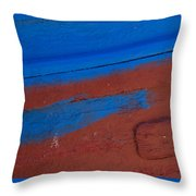 Blue And Red Abstract Throw Pillow