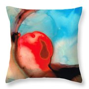 Blue And Red Art - Crimson Dance - Sharon Cummings Throw Pillow
