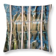 Blue And Tan Abstract Throw Pillow