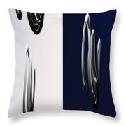 Blue And White Abstract Throw Pillow