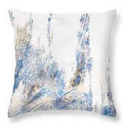 Blue And White Art - Ice Castles - Sharon Cummings Throw Pillow