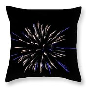 Blue And White Fireworks Throw Pillow