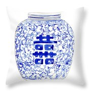 Blue And White Ginger Jar Chinoiserie 8 Throw Pillow