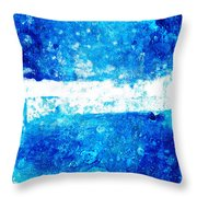 Blue And White Modern Art - Two Pools 2 - Sharon Cummings Throw Pillow