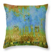 Blue And Yellow Abstract Throw Pillow