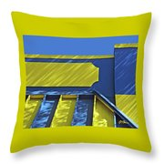 Blue And Yellow Shadows Throw Pillow