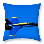 Blue Angel Fly By Throw Pillow