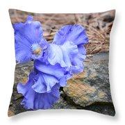 Blue Angel - Iris Throw Pillow