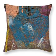 Blue Angel Watches Over Me Throw Pillow by Angela L Walker