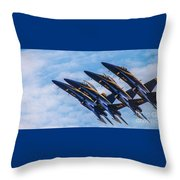 Blue Angels Ascending Throw Pillow