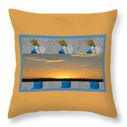 Blue Angels At Sunset Throw Pillow