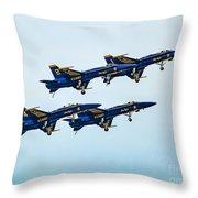 Blue Angels Carrier Landing Throw Pillow