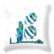 Blue Angels Fish Art By Sharon Cummings Throw Pillow