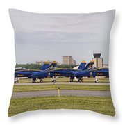 Blue Angels Flight Line Throw Pillow