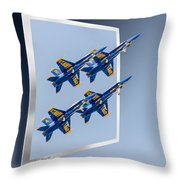 Blue Angels - Oof Throw Pillow