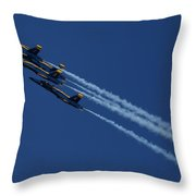 Blue Angels Over San Francisco Bay Throw Pillow