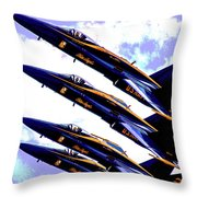 Blue Angels Quad Throw Pillow