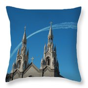 Blue Angels Soaring Throw Pillow by Suzanne Gaff