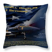 Blue Angels Ta-4j Skyhawk Throw Pillow
