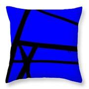 Blue Angle Abstract Throw Pillow