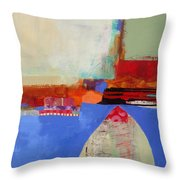 Blue Arch Throw Pillow