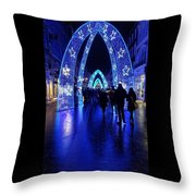 Blue Archways Of London Throw Pillow