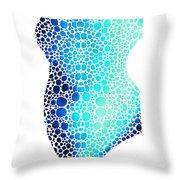 Blue Art - Colorforms 3 - Sharon Cummings  Throw Pillow