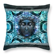 Blue Atheahon  Throw Pillow