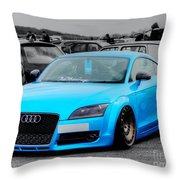 Blue Audi Throw Pillow