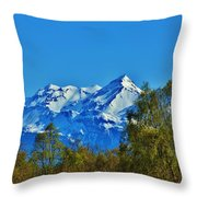 Blue Autumn Sky Throw Pillow