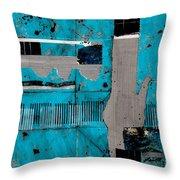 Blue Bag Ditty  Throw Pillow