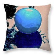 Blue Ball 2 Throw Pillow