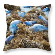 Seeing Blue At The Beach Throw Pillow by Karen Zuk Rosenblatt