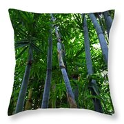 Blue Bamboo Throw Pillow