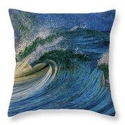 Blue Barrel Throw Pillow