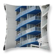 Blue Bayu Throw Pillow