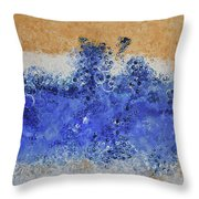 Blue Beach Bubbles Throw Pillow