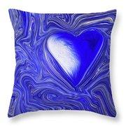 Blue Beats Throw Pillow