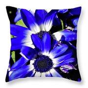 Blue Beauties Throw Pillow