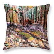 Blue Bell Woods Throw Pillow